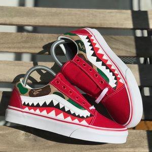 49e00f184f Vans Shoes - Custom Bape Camo Vans